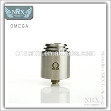 Newest full mechanicla mod omega atomizer omega stainless steel atomizer