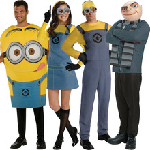 Plus Size adult minion costume despicable me minion mascot costume halloween costume couple QAMC-2096