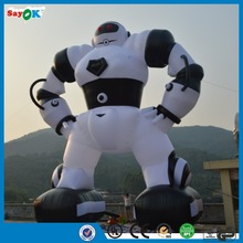 2014 new brand Giant White Inflatable Robot for Advertising