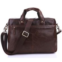 7075LQ Mens leather Custom Messenger Bag Leather Laptop Bag