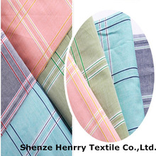 2014 good quality 100% cotton yarn dyed woven plaid shirt fabric