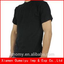 2014 wholesale bulk plain black t shirt anvil for printing