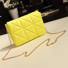 2014 New European and American fashion Quilted chain bag Korean retro shoulder bag female bag diagonal mini tide