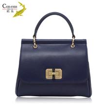 New design luxury high quality ladies cow leather bag handbag trade shows