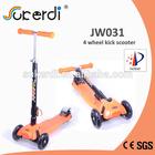 Front wheel 120mm rear wheel 80mm 4.5kg foldable kids kick manual scooter