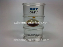 oval insert liquid oil drop for business gifts