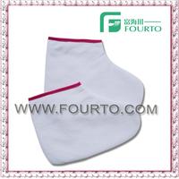 Paraffin treatment sock/spa cotton glove towel mitt
