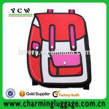 2d 3d cartoon canvas satchel backpack bag