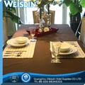 De tela de satén manufacter de ganchillo manteles de plástico para mesas redondas