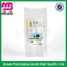 branded logo design vacuum tea resealable stand up zipper bag