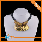 Different types of necklace weaved rope chains jewelry Gold Plated necklaces