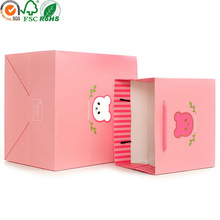 Cute gift paper bag for birthday gift packaging with handle
