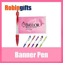 Custom cheap promotional banner pen