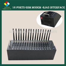 HOT!!! 16 ports GSM SMS Modem, RJ45 gsm modem,2g gprs usb modem edge usb