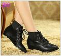 las señoras de moda las botas de tobillo negro botas planas