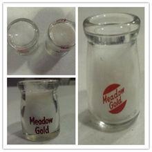 Miniature Glass Milk Bottle Creamer Meadow Gold Dairy
