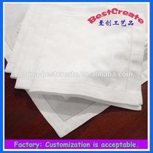"20""*20"" Cotton natural dinner napkin with hemstitch"