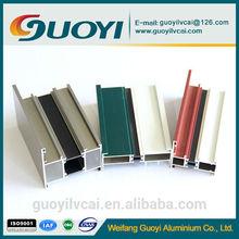 6000 series thermal break windows&doors aluminum extrusion profiles with PVC