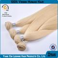 el precio de fábrica de la trama doble 5a 6a remy dorado oscuro color de pelo rubio tejido