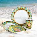 16 peças de luxo multa hiper louça de porcelana branca conjunto de mar goddness