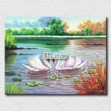 Fairy natural white swan oil painting for girl gift