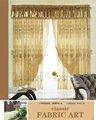 Moderno llanura sólidos gasa pura de la cortina de la ventana con bucles, confeccionado en la ficha top gasa pura cortinas de panel