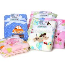 super soft fleece applique embroidery baby blanket