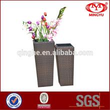 Rattan flower vase&rattan wicker decor vase set