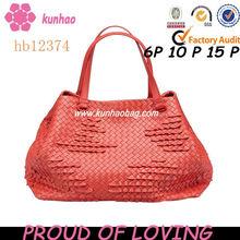 leather knitting bag