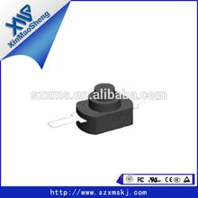Latching action Flashlight 2pin square torch push button switch box DC 30V 1A black