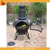 attractive and durable mini cast iron chiminea