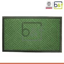 "Natural PP fiber embossing silhouette ""Welcome"" outdoor transprint doormat,transprint mat"