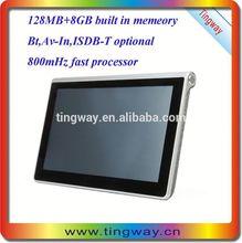 800mhz msb2531 gps navigation software 7 inch gps x10 with usb slot