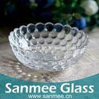 Machine Pressed Pearl Design Crystal Saled Glass Bowl