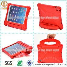 Child Proof EVA Foam Rotary Standing Case for iPad Mini Red