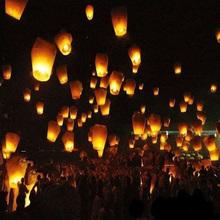 Festival Decoration Chinese Traditional Wishing Lantern Yellow Square Outdoor Kongming Sky Lanterns