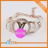 Bracelet leather crystal bangle magnetic chain bracelets