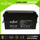 Long lifespan back up sealed lead acid batteries 12v 150ah