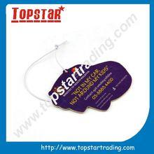 logo printable custom paper car air freshener