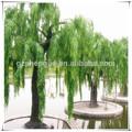 sjm0905102 grande del árbol de plástico decoración de jardín de plantas artificiales willow tree