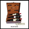 Factory Price Custom Design 3 Bottle Wine Leather Box
