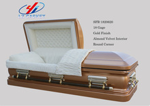 AMERICAN STYLE METAL CASKET WOOD CASKET AND COFFIN