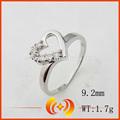 corazón de la moda anillo de la forma con 925 de joyas de plata al por mayor
