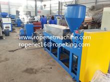 China PLC control pp yarn Extrusora de plastico Email:ropenet16@ropeking.com/skype:Vicky.xu813