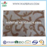 anti slip chenille carpet backing types