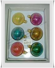 Glass Ball Christmas Ornament / Glass Christmas Ornament / Glass Xmas Ornament