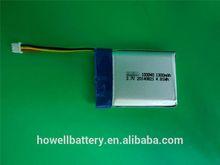 3.7v 1200mah li-ion batteries