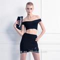 女の子の写真ミニスカートでセクシーな2ピースbodyconスカートとブラウスのウェディングドレス