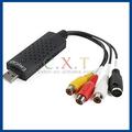 Alta resolución easycap usb 2.0 video audio tarjeta de captura CCTV de la cámara, Ordenador portátil de uso