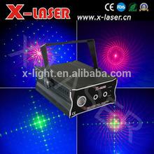 Vermelho e verde fogos de artifício do partido luz laser / 8 gráficos com LED celebração do feriado luz laser / mini luz loja